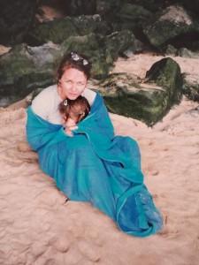 Leanne and Lidia on beach