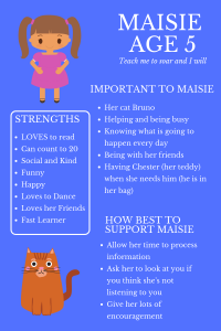 maisie one page profile